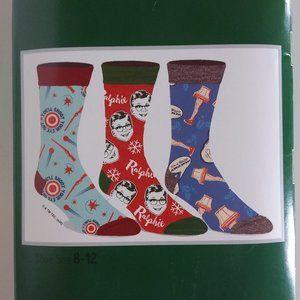 A Christmas Story Crew Socks Set of 3